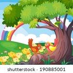 illustration of the birds under ... | Shutterstock .eps vector #190885001