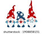 usa patriotic gnomes with stars ... | Shutterstock .eps vector #1908858151
