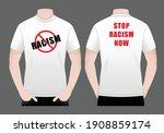 men's white t shirt design stop ... | Shutterstock .eps vector #1908859174