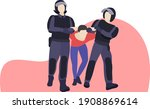 protests and rallies in russia. ... | Shutterstock .eps vector #1908869614