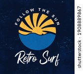 Sun Retro Surf Emblem And...