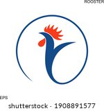 french rooster logo. isolated... | Shutterstock .eps vector #1908891577