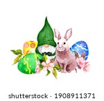 Gnome With Easter Bunny ...