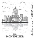 Outline Montpelier Vermont City ...