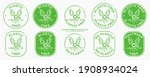 a set of conceptual stamps for... | Shutterstock .eps vector #1908934024