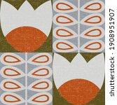 vector seamless pattern in... | Shutterstock .eps vector #1908951907