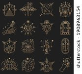 esoteric symbols. vector thin...   Shutterstock .eps vector #1908963154