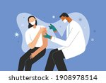 covid 19 vaccination  doctor... | Shutterstock .eps vector #1908978514