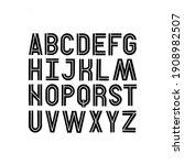 scandinavan style artisic abc....   Shutterstock .eps vector #1908982507