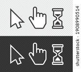 pixel cursors icons. vector... | Shutterstock .eps vector #1908990514