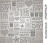 happy father day. seamless... | Shutterstock . vector #190899629