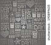 happy father day. seamless... | Shutterstock . vector #190899635