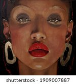 Acrylic And Oil Painting On...