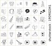 music doodle vector | Shutterstock .eps vector #190902341