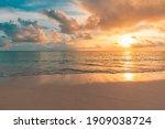 Closeup Sea Sand Beach....