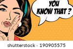 pop art retro woman in comics... | Shutterstock .eps vector #190905575