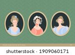 a set of paintings in frames.... | Shutterstock .eps vector #1909060171