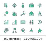 set of head hunting related... | Shutterstock .eps vector #1909061704