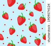 strawberry seamless pattern....   Shutterstock .eps vector #1909074124