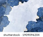 classic blue watercolor fluid... | Shutterstock .eps vector #1909096204