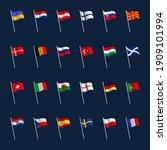 european football euro 2020... | Shutterstock .eps vector #1909101994