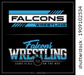 Collection of two white and blue Falcon insignias, Falcon Mascot, Sports Design, Team Logo, Falcon