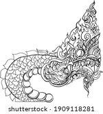 naga thai dragon isolate on... | Shutterstock .eps vector #1909118281