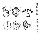 hand drawn doodle element... | Shutterstock .eps vector #1909127584