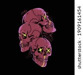 skulls horror pop art graphic... | Shutterstock .eps vector #1909161454