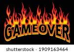 game over text illustration... | Shutterstock .eps vector #1909163464