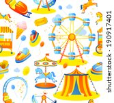 amusement entertainment park... | Shutterstock .eps vector #190917401