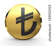 turkish lira sign. tl symbol.... | Shutterstock . vector #190922525