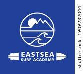 east sea surf academy logo | Shutterstock .eps vector #1909232044