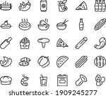 food line icon set   pizza... | Shutterstock .eps vector #1909245277