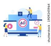 adblock illustration vector...