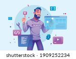 web design and development ... | Shutterstock .eps vector #1909252234