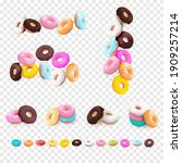 big collection set of realistic ... | Shutterstock .eps vector #1909257214