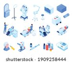 isometric cosmetology set with... | Shutterstock .eps vector #1909258444