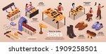 traditional shoemaking artisan... | Shutterstock .eps vector #1909258501