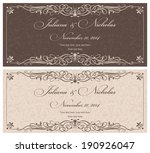 wedding invitation cards ... | Shutterstock .eps vector #190926047