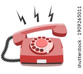 phone call  old rotary...   Shutterstock .eps vector #1909265011