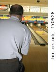 Small photo of PBA Bowler ready to pick up the 10 PIN