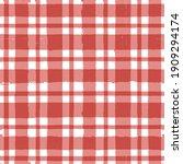gingham seamless pattern.... | Shutterstock .eps vector #1909294174