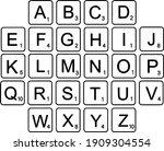 scrabble letter font tiles... | Shutterstock .eps vector #1909304554
