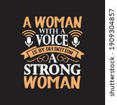 a woman with a voice is by... | Shutterstock .eps vector #1909304857