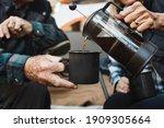happy senior couple having... | Shutterstock . vector #1909305664