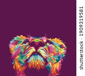 lion in style wpap pop art... | Shutterstock .eps vector #1909319581
