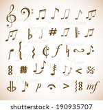 music notes and signs hand... | Shutterstock .eps vector #190935707