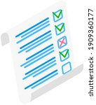 completed survey checklist...   Shutterstock .eps vector #1909360177