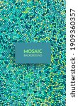 mosaic. abstract background... | Shutterstock .eps vector #1909360357